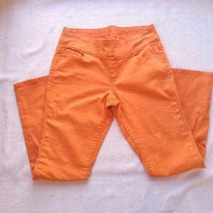 JAG High-Rise Skinny Jeans Orange Pull-on Size 14